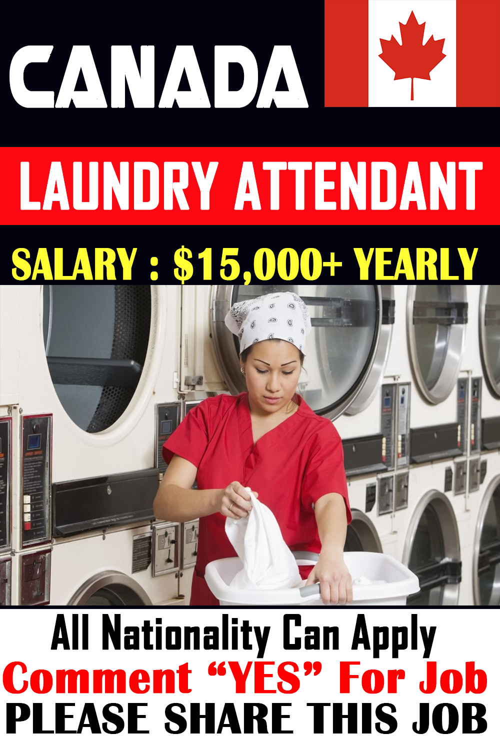 Laundry Attendant Jobs In Canada