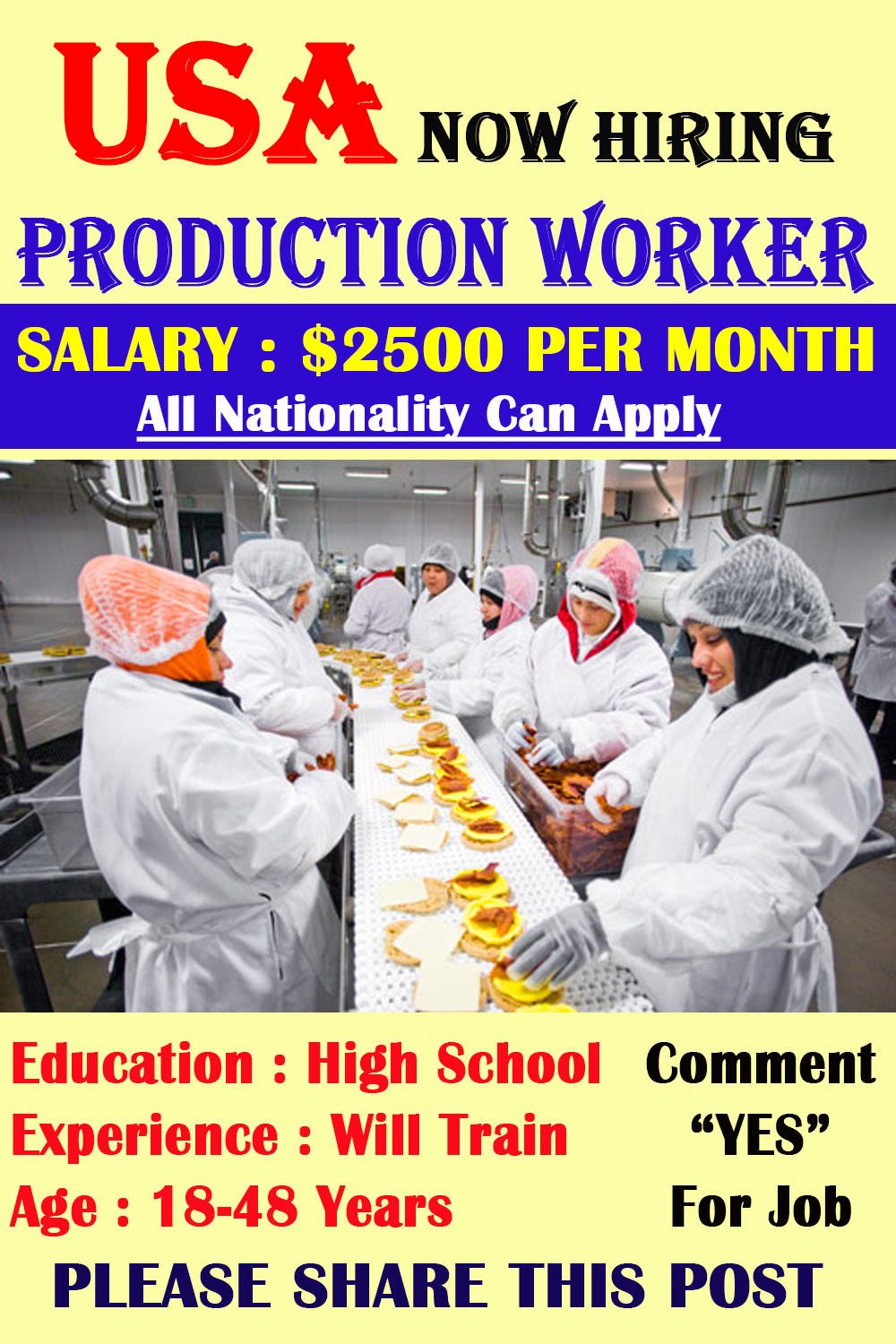 Production Workers Jobs in USA