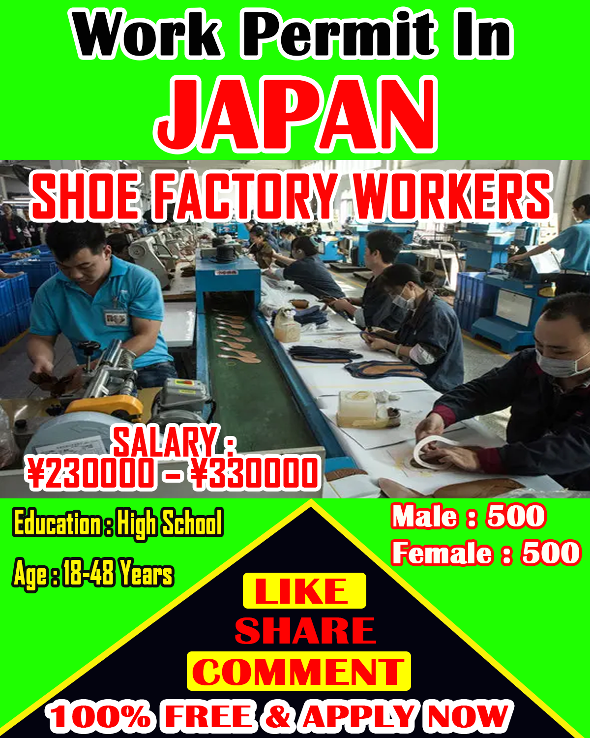 Factory specialists Jobs in Japan