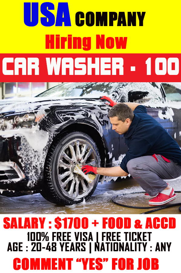 Car Washer Job In USA