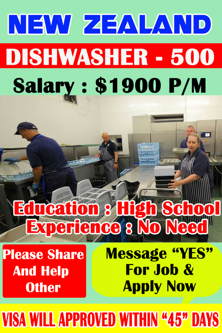 Dishwasher hiring now jobs in New Zealand