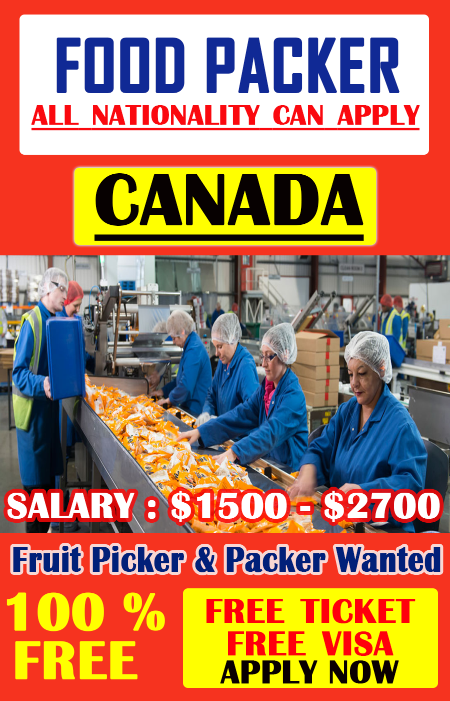 Food Services workers Jobs in Canada