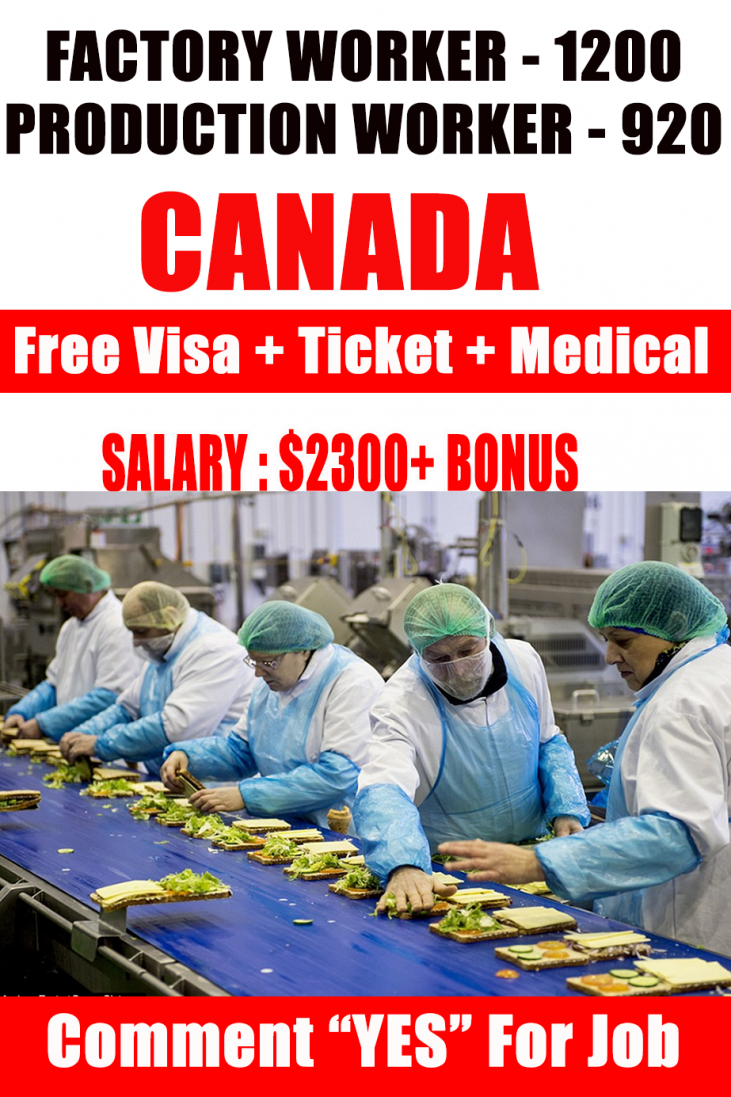 Production Workers Wanted In Canada