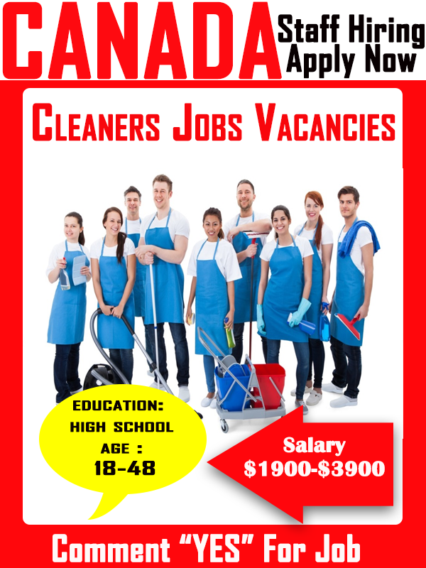 Cleaners Jobs Positions In Canada (2019-2020)