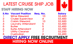 Cruise Ship - Job In Canada