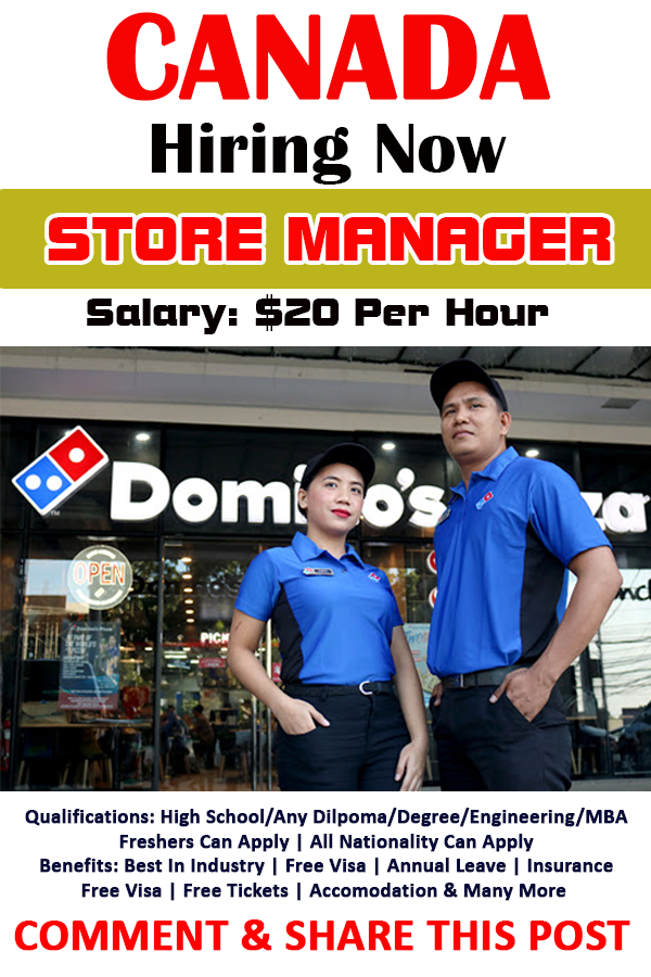 Store Manager at Dominos Pizza in Canada