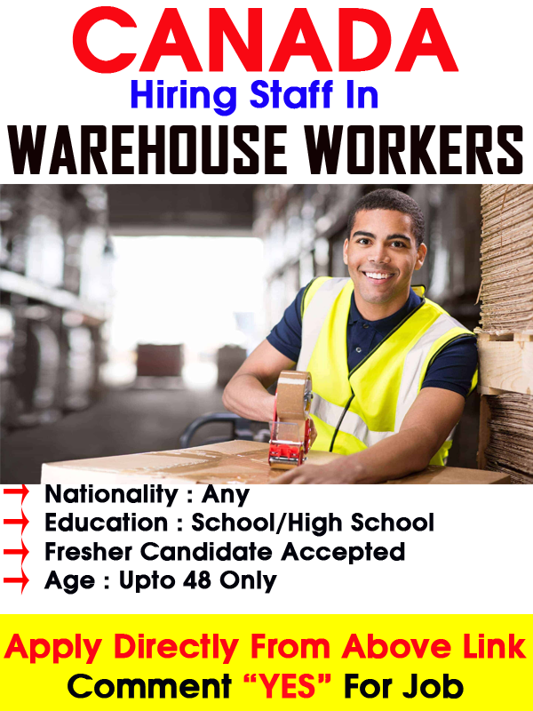 Warehouse workers wanted in Canada