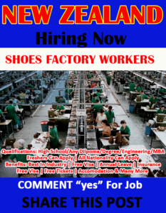 Shoes Factory worker in New Zealand