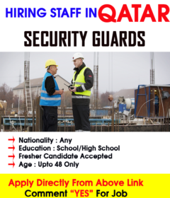 Security Guards required in Qatar
