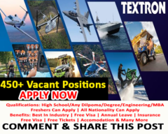 450+ Vacant Positions For Professionals in TEXTRON