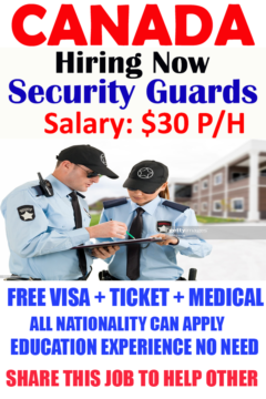 Do you Want To Apply For Security Guards In Canada?
