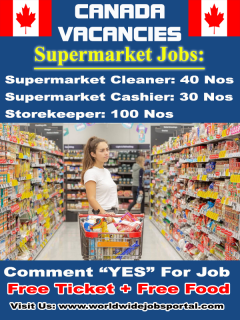 "Canada Vacancies ""Supermarket Jobs"" Apply Here!!"