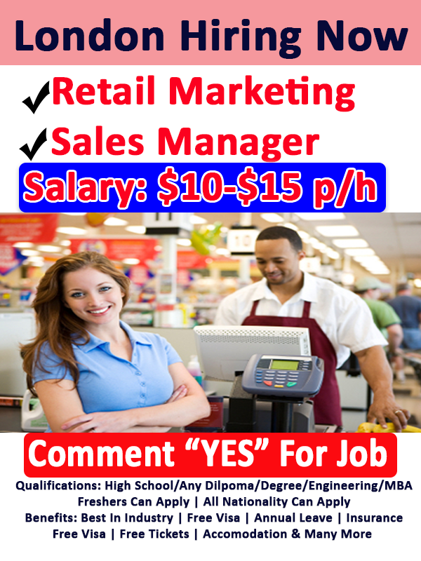Retail Marketing And Sales Manager