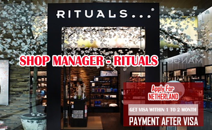 Shop Manager Wanted in Netherland Apply Now