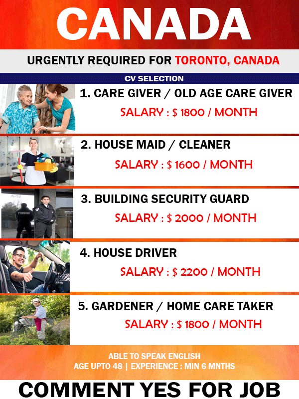 APPLY FOR JOB IN CANADA FOR FOREIGNERS