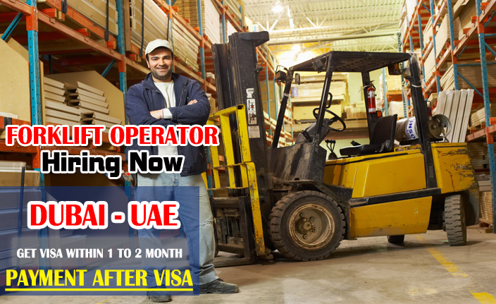 Forklift Operator wanted in Dubai