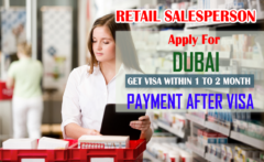 Retail salesperson wanted in Dubai