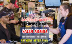 Cashier Co-worker wanted in Saudi Arabia