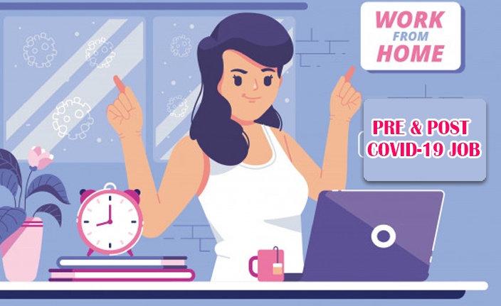 Pre & Post Covid-19 Job: Working From Home