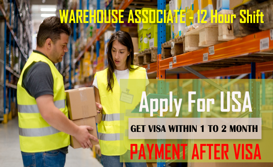 Warehouse Associate wanted in USA
