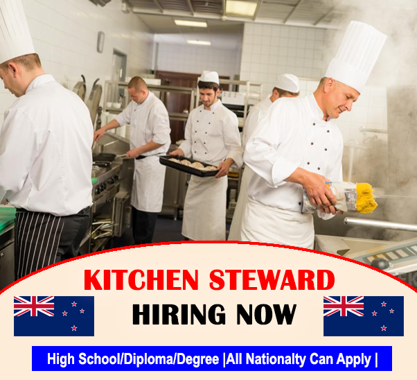 Kitchen Steward Hiring In New Zealand